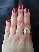 Срібне кільце з накладками золота Христина