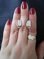 Срібний комплект з накладками золота Маргарита, фото 1