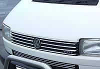 Хром накладки на решетку радиатора volkswagen t-4 transporter (фольксваген т4 транспортер 1990-2003)