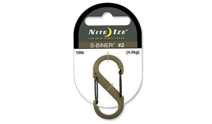Nite Ize - S-Biner #2 Plastic Black Gate - Coyote - SBP2-03-28BG