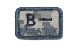 Helikon - Patch - Blood Type - B- NEG - UCP (для страйкбола)