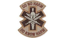 MIL-SPEC MONKEY - Morale Patch - Do No Harm Spartan - Desert