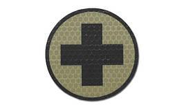 Combat-ID - Patch Cross - Round - Coyote Tan - Gen I (для страйкбола)