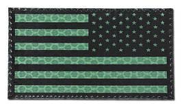 Combat-ID - Patch USA Right - Large - Green - Gen I - USG (для страйкбола)
