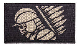 Combat-ID - Patch Hussar - Black - Laser Cut - Gen III Honeycomb (для страйкбола)