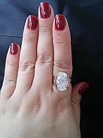 Кольцо серебряное с золотом  Юлия, фото 1