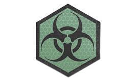 Combat-ID - Patch Biohazard - Hexagon - Green - Gen I (для страйкбола)