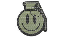 Combat-ID - Patch Happy Frag Grenade - OD - Gen I (для страйкбола)