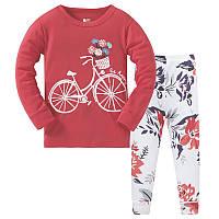 Пижама Цветы на велосипеде Baobaby
