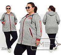 Удобный женский спортивный костюм из ангоры-меланж с 56 по 62 размер