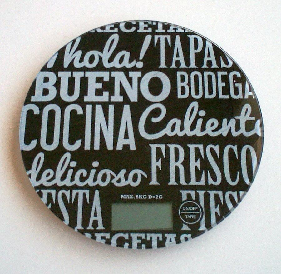 Сенсорні кухонні електронні круглі ваги Colourworks Kitchen Craft до 5 кг, black
