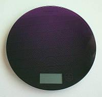 Сенсорные  кухонные электронные круглые весы Colourworks Kitchen Craft до 5 кг, purple