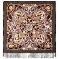Время чудес 1882-2, павлопосадский платок шерстяной с шелковой бахромой, фото 1