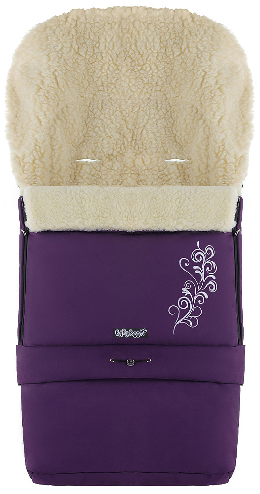 Зимний конверт Babyroom №20 с удлинением  фиолетовый с узором