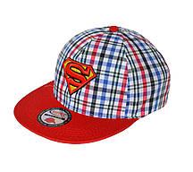 Кепка реперка с прямым козырьком для мальчика Супермен