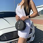 Женская сумка круглая черная (1158), фото 4