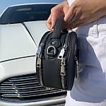 Женская сумка круглая черная (1158), фото 5