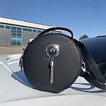 Женская сумка круглая черная (1158), фото 2
