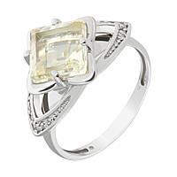 Серебряное кольцо Размах с ювелирным стеклом и фианитами 000079890 17 размер