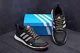Мужские кожаные кроссовки Adidas A19 Green Star (реплика), фото 9