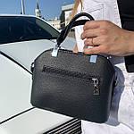 Женская сумка маленькая черная (1050), фото 9