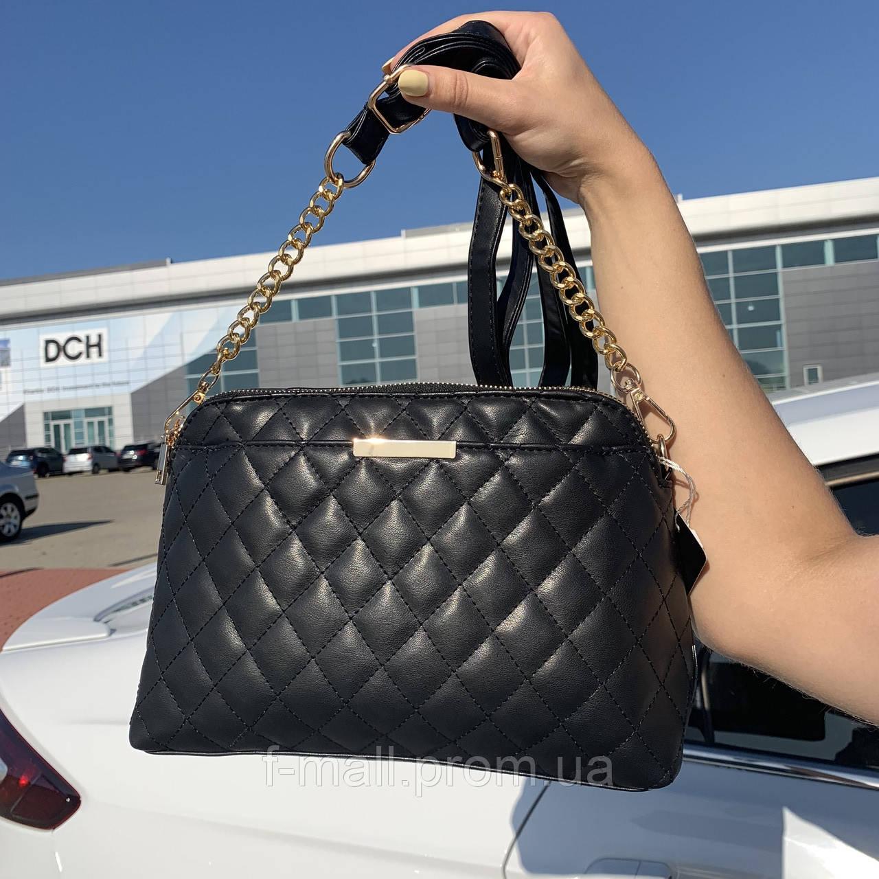 Стильная женская сумка черная (1030)