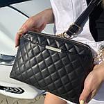 Стильная женская сумка черная (1030), фото 2