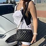 Стильная женская сумка черная (1030), фото 3