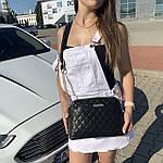 Стильная женская сумка черная (1030), фото 5