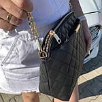 Стильная женская сумка черная (1030), фото 6