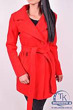 Пальто женское  демисезонное  (цв. ярко-красный) ROMATIC 801 Размер:42,44,46,48