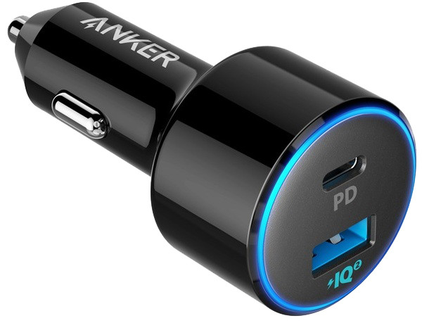 Автомобильное зарядное устройство Anker PowerDrive II 1xPD & 1xPIQ2.0 Black