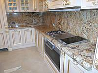 Столешница и фартук из импортного гранита Solarius, столешницы для кухни из натурального камня