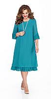 Сукня TEZA-250/2 білоруський трикотаж, бірюзові тони, 50