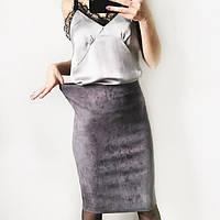 Юбка карандаш из замши( базовый гардероб)