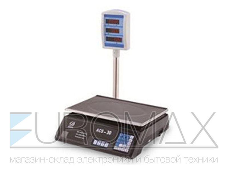 Весы электронные торговые BITEK 55кг со стойкой аккумулятор 4В BT-D-B