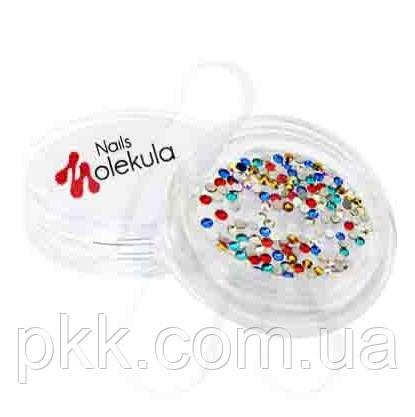 Стразы камни SWAROVSKI для дизайна ногтей Nails MOLEKULA микс 100шт