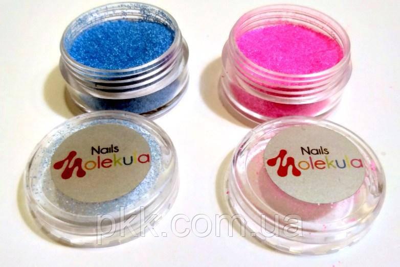 Цукровий пісок для дизайну нігтів Меланж Nails MOLEKULA 3г