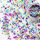 Набор «конфетти» для дизайна ногтей микс Nails MOLEKULA, фото 2