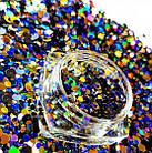 Набор «конфетти» для дизайна ногтей микс Nails MOLEKULA, фото 3