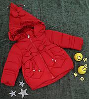 Куртка демисезонная, размер 1-4 года, красный, фото 1