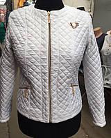 Женская демисезонная куртка белого цвета (2808/10)