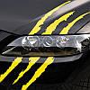 Наклейка ЦАРАПИНЫ на капот  - желтые (светоотражающие)