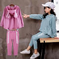 Модний комплект для дівчаток / осенний свитер с длинными рукавами в Корейском стиле с заячьими ушками + штаны