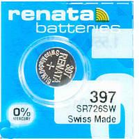 Батарейка часовая Renata 397 (SР616SW) Silver oxide таблетка