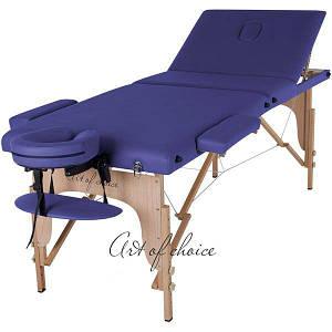 Массажный стол складной Art of choice Sol Comfort (синий), код: HQ04DB