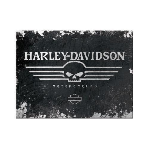 Магніт Ностальгічне-Art Harley-Davidson Skull Logo (14300)