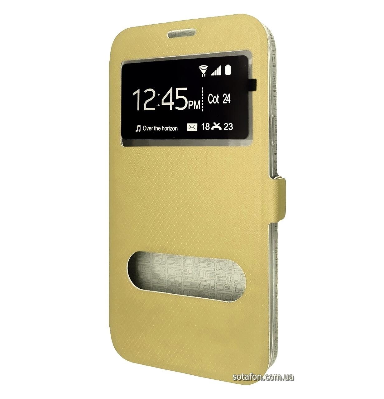 Чехол-книжка Modern 2 Windows Style для Samsung Galaxy J7 SM-J700H / J7 Neo SM-J701H Gold