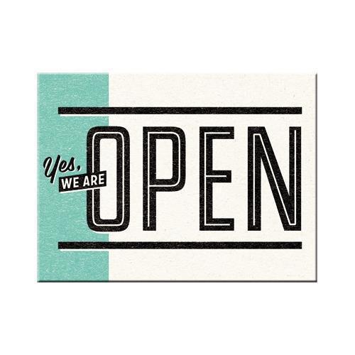 Магнит Nostalgic-Art Yes, we are Open (14325)