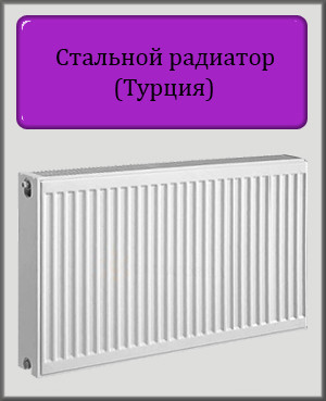 Стальной радиатор DL 600х600 22 типа боковое подключение